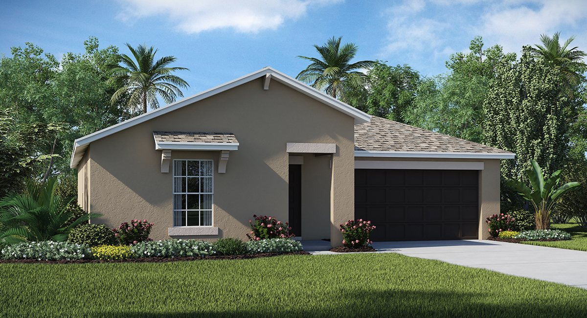 Riverbend West Exective Homes The  Dover  1,556 sq. ft. 3 Bedrooms 2 Bathrooms 2 Car Garage 1 Story Ruskin Fl 33570