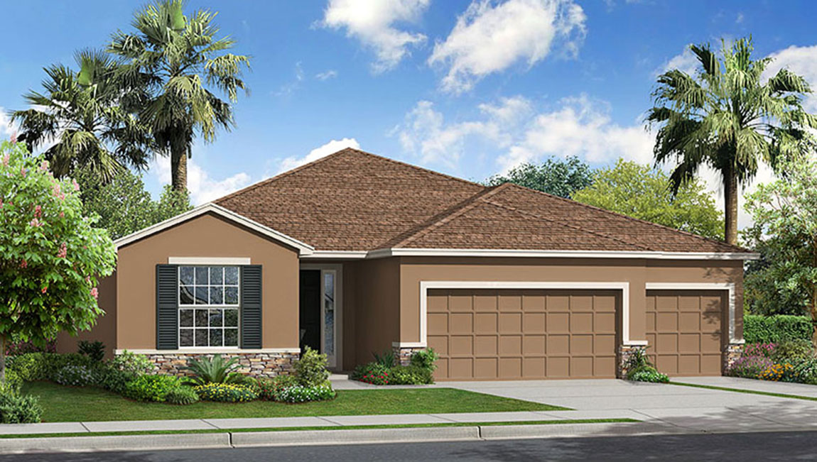 Park Creek The Hawthorne 2,558 square feet 4 bed, 3 bath, 3 car, 1 story Riverview Fl