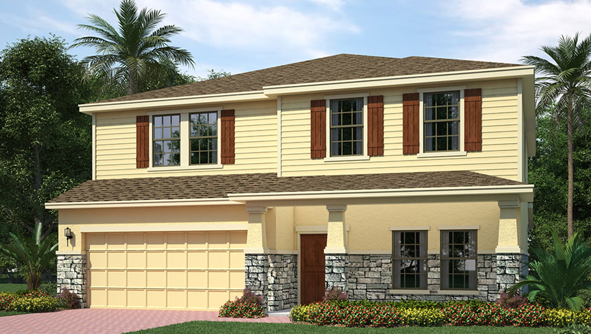 South Tampa Living The Holden 3,189 square feet 4 bed, 3 bath, 2 car, 2 story South Tampa Fl