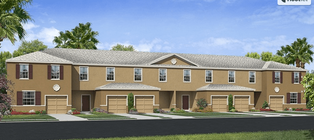 Copper Creek The Holly 1,530 square feet 3 bed, 2.5 bath, 1 car, 2 story Gibsonton Fl