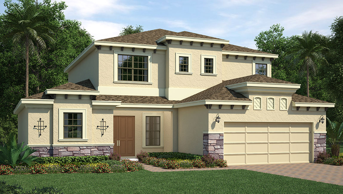 South Tampa Living The Palermo 3,450 square feet 4 bed, 4.5 bath, 2 car, 2 story South Tampa Fl