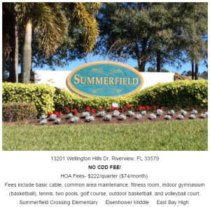 The Pointe at Summerfield Crossing Riverview Florida