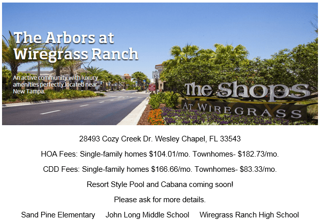 The Arbors at Wiregrass Ranch: The Townhomes: Wesley Chapel Florida