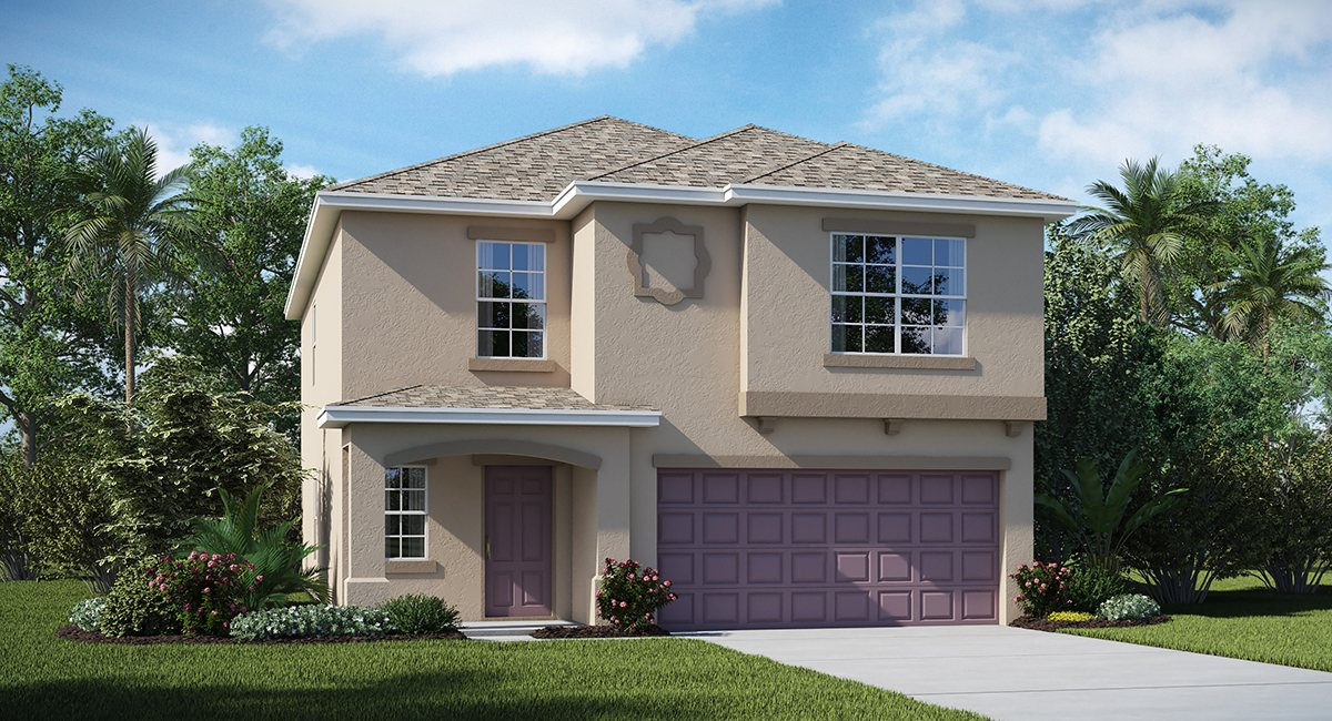 Riverbend West Estates Homes The  Boston  2,206 sq. ft. 5 Bedrooms 2 Bathrooms 1 Half bathroom 2 Car Garage 2 Stories Ruskin Fl 33570