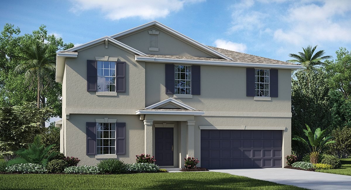 The Summit at Fern Hill The Raleigh  2,889 sq. ft. 5 Bedrooms 2 Bathrooms 1 Half bathroom 2 Car Garage 2 Stories Riverview Florida 33578