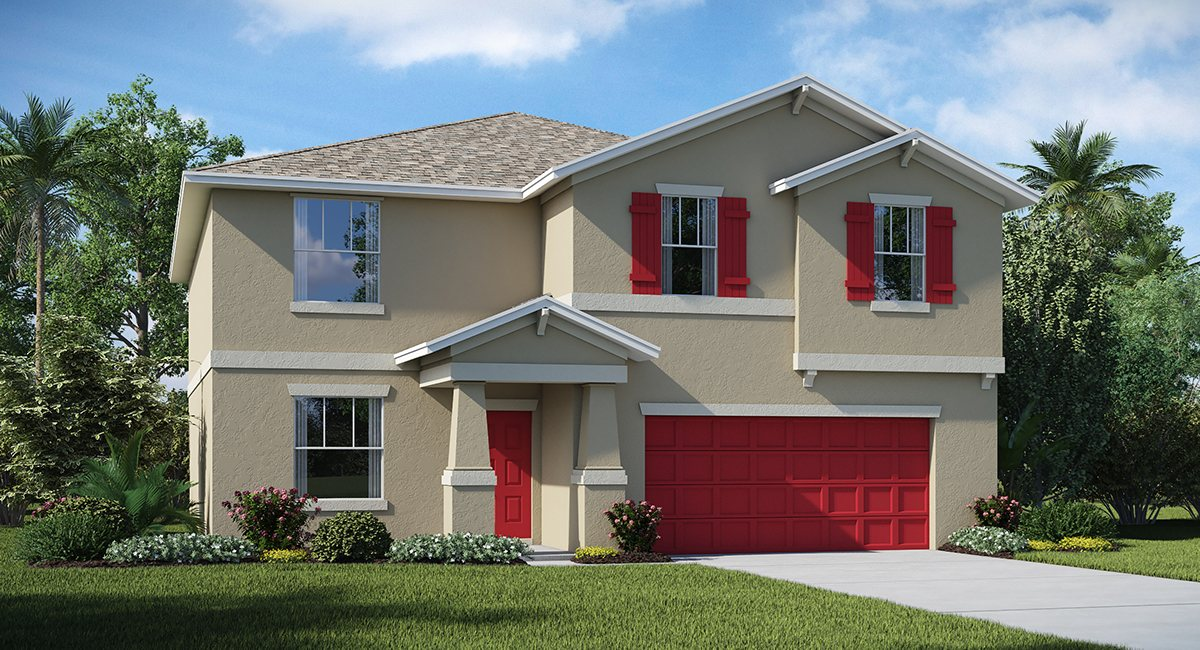 The Summit at Fern Hill The Richmond 3,076 sq. ft. 6 Bedrooms 3 Bathrooms 2 Car Garage 2 Stories Riverview Florida 33578