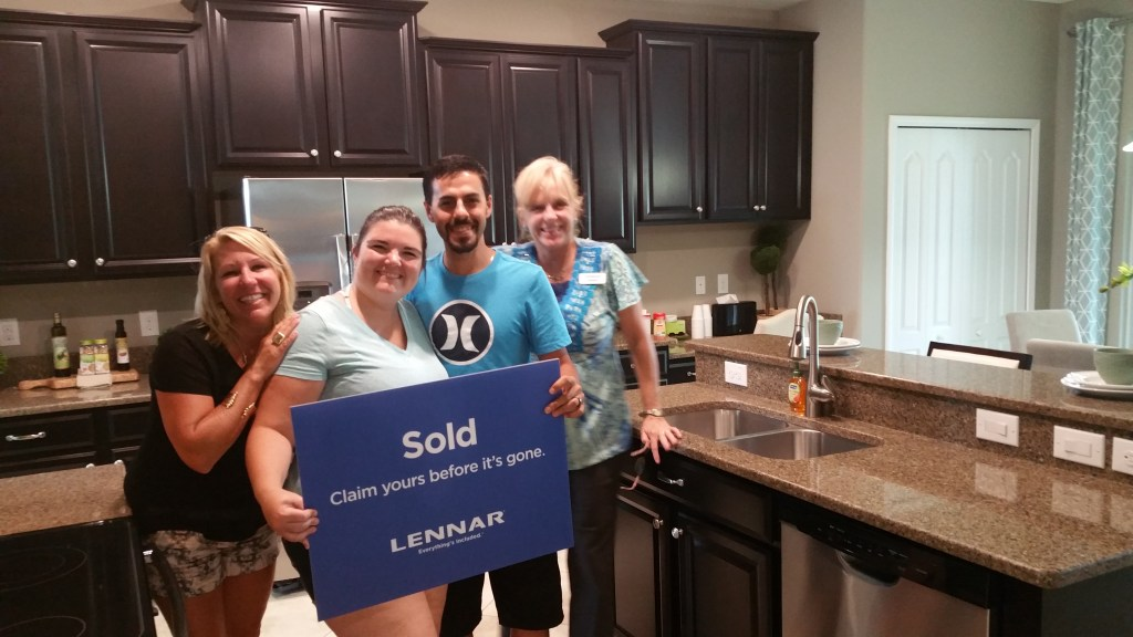 Congratulation to Danny Nappi & Kim Christ Kanatzar from The Zest Team at Blue Dog Realty. For Selling Another Brand New Lennar everything include Home In Cypress Creek Ruskin Florida