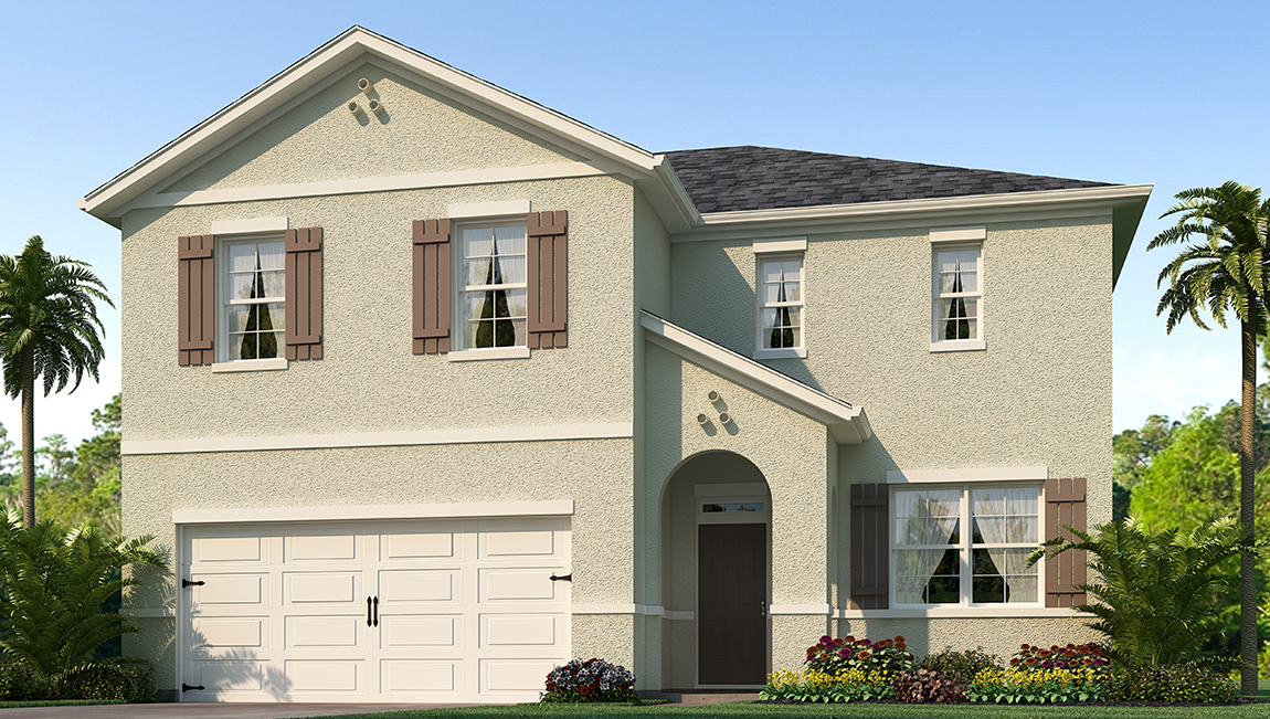 Park Creek The Hayden 2,601 square feet 5 bed, 3 bath, 2 car, 2 story Riverview Florida