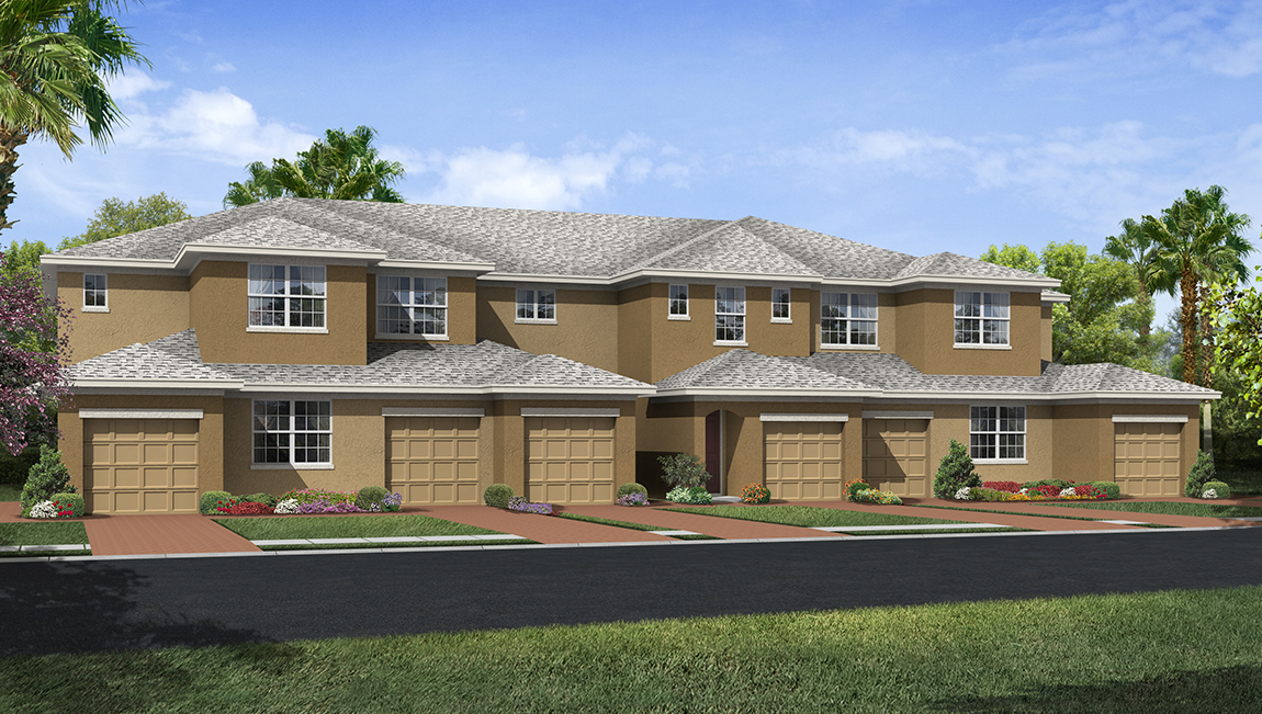 The Cove at Avelar Creek Town Homes DR Horton Homes Riverview Florida