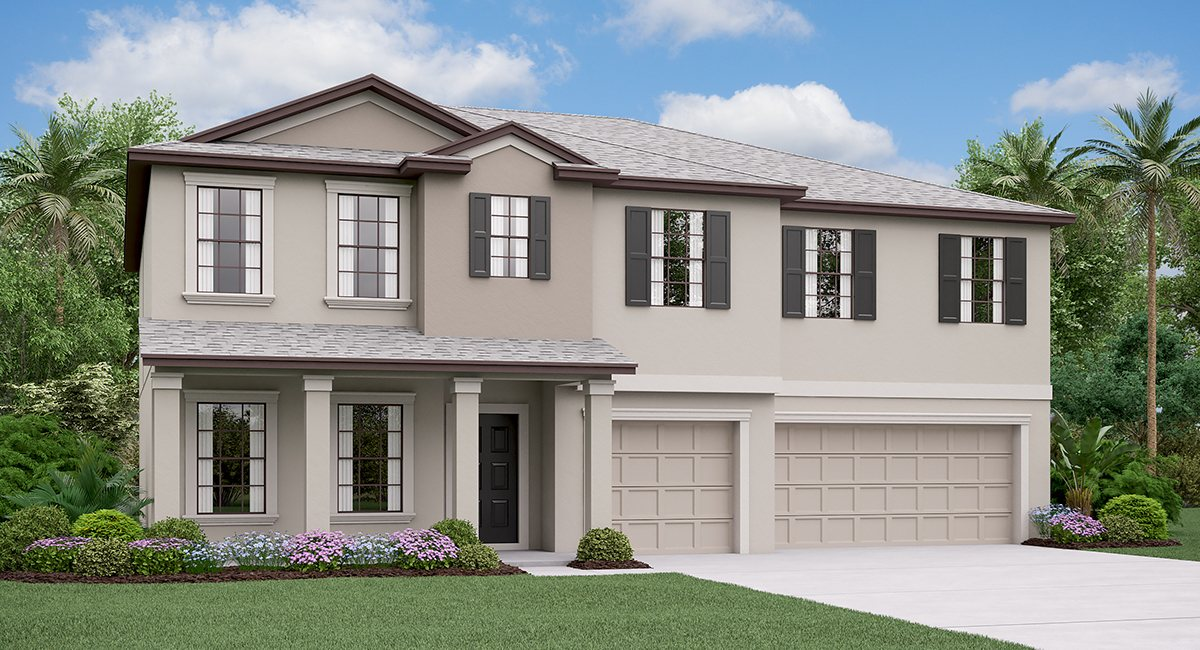 The Olympia Model Tour Lennar Homes  Belmont Ruskin Florida
