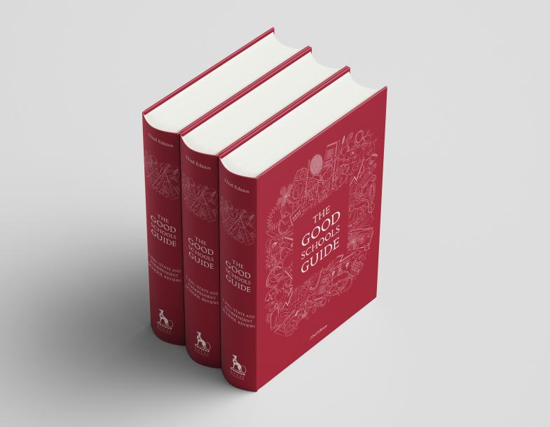 Cover and spine design and illustration for The Good Schools Guide