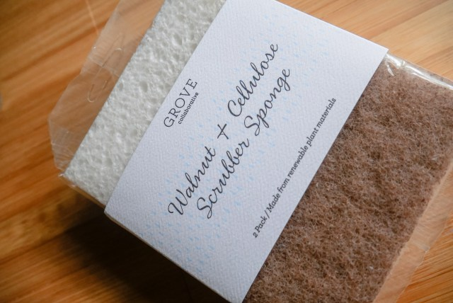 Grove Collaborative Walnut Scrubber Sponge only available on Grove Collaborative Website.