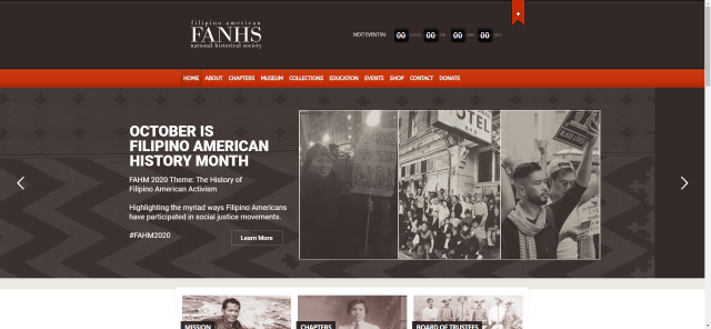 Filipino American National History Society (FANHS) Website