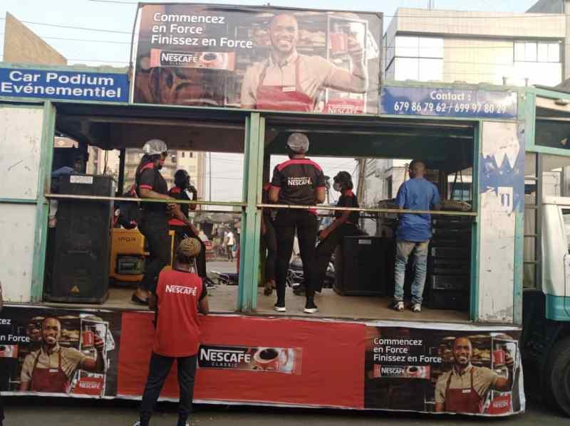 Caravane Nestlé – L'art et la culture accompagnent NESCAFE dans le processus de promotion de l'entrepreneuriat et Douala bouge.