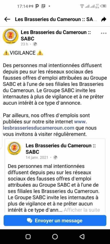 Recrutement Groupe SABC