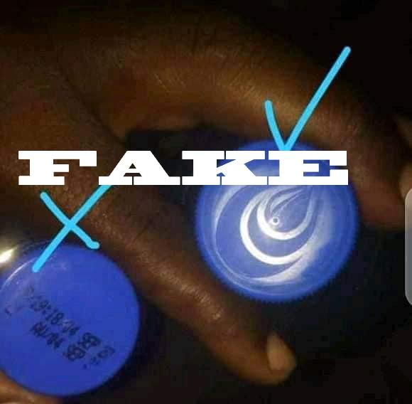 NON! Les bouteilles d'eau Supermont non estampillées de la goûte d'eau sur le bouchon ne sont pas issues de la contrefaçon