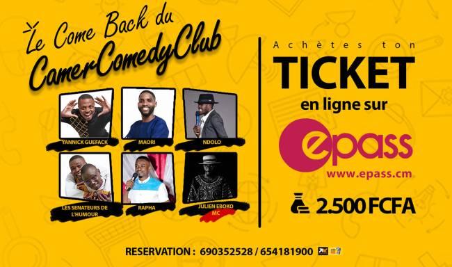 Le come-back du Camer Comedy Club annoncé, viens chasser l'AVC avec tes humoristes préférés