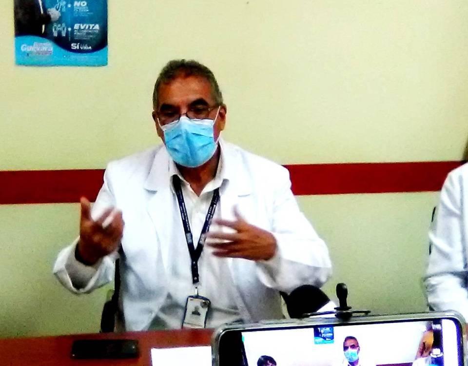 El doctor Isaac Pérez reiteró el llamado a la colectividad para que mantenga las medidas de prevención