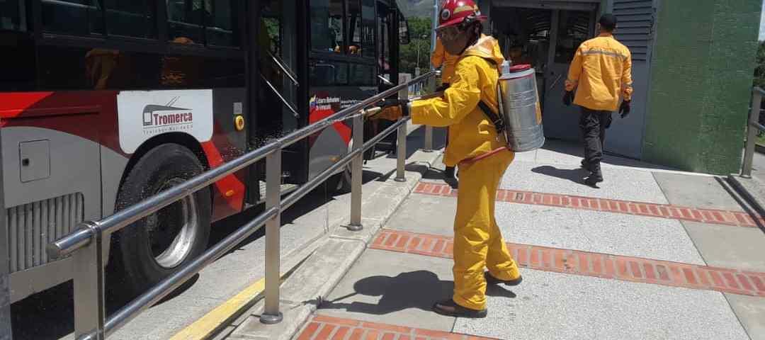 Jornadas de desinfección profunda intensificó Trolebús Mérida para prevenir la COVID-19