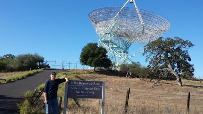 The Dish — of course, pretty much rusted into a permanent zenith telescope.