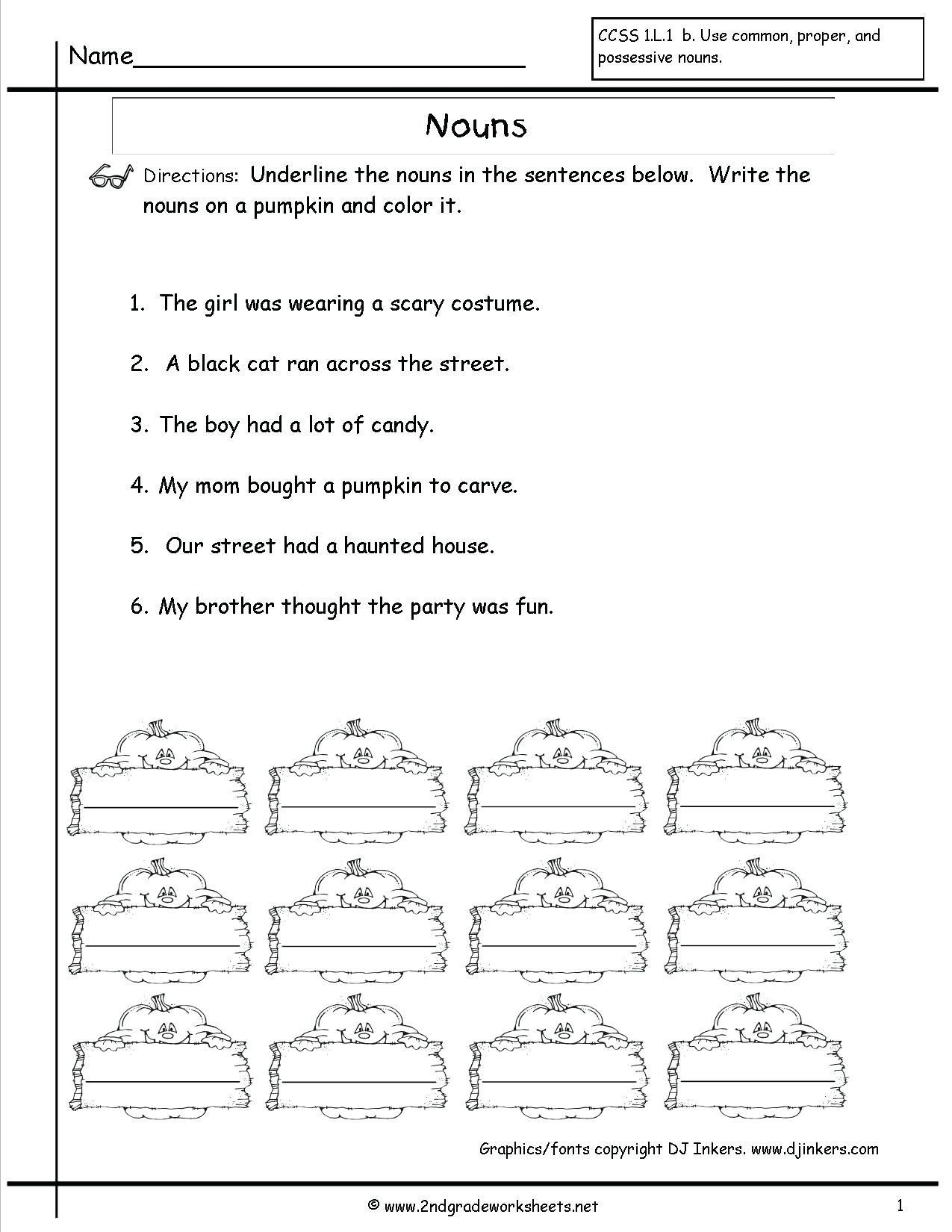 Grammar Worksheets Middle School