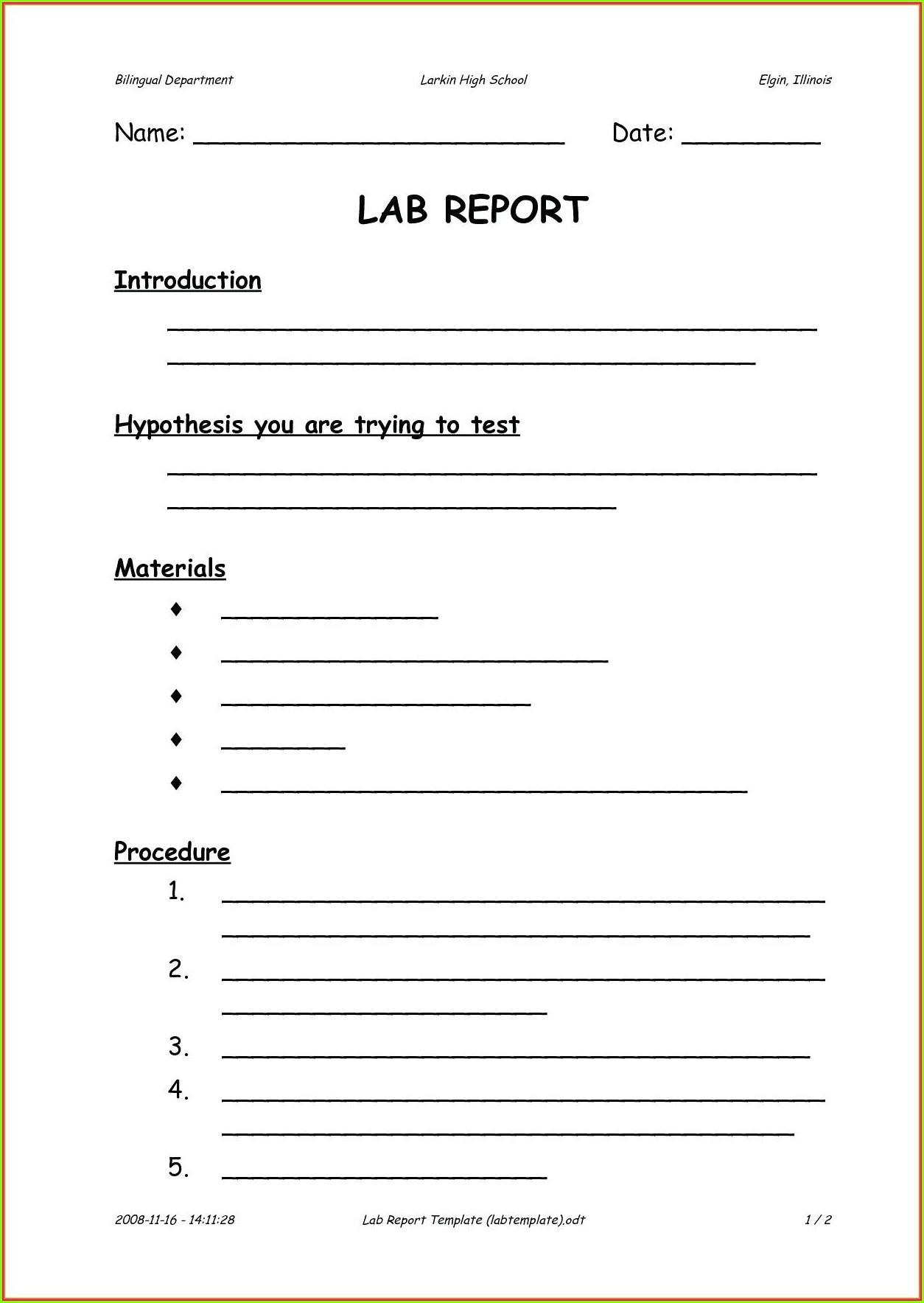 Scientific Method Worksheet Middle School
