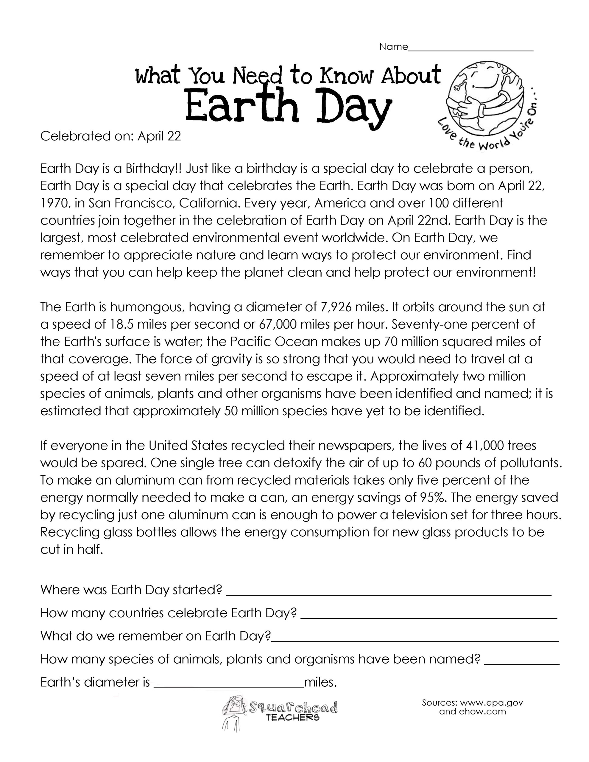 Columbus Day Reading Comprehension Worksheets Middle