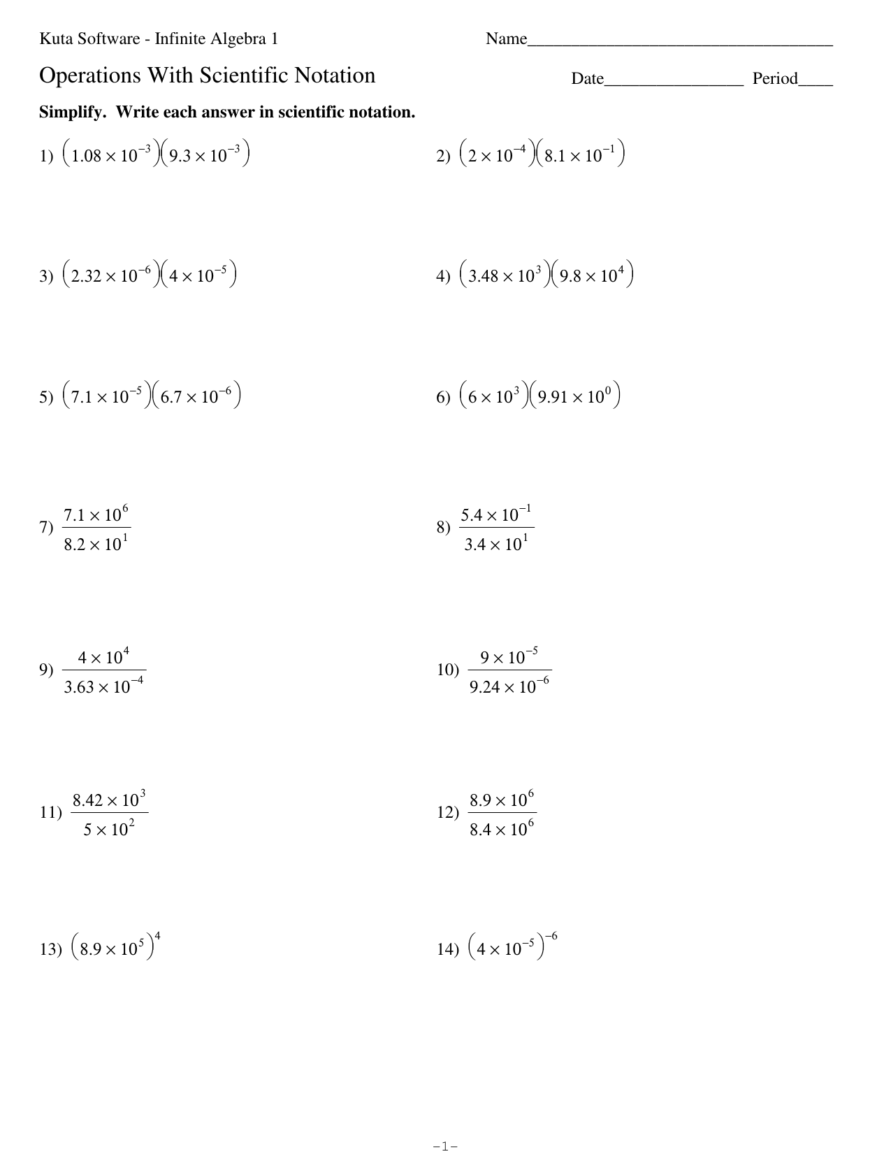 Algebra Substitution Worksheet With Answers