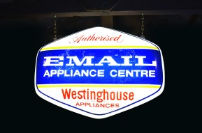 Email Westinghouse Advertising Sign, 1950s