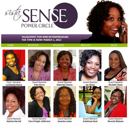 SistaSense Power Circle TeleSummit for Web Women Entrepreneurs