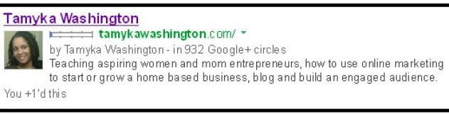 Tamyka Washington Google AuthorSure