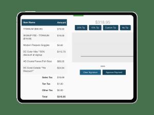 Tanning Salon Software iPad Checkout