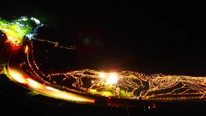 あぜの万燈(ロウソク等の火の光バージョン)白米棚田 撮影者:川口 喜仙 撮影地:白米棚田(輪島市/石川県) 撮影日:2012年10月13日