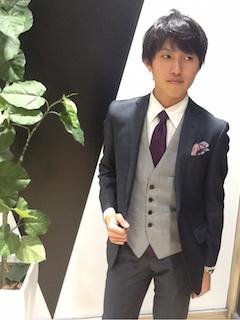 スーツ×ベスト
