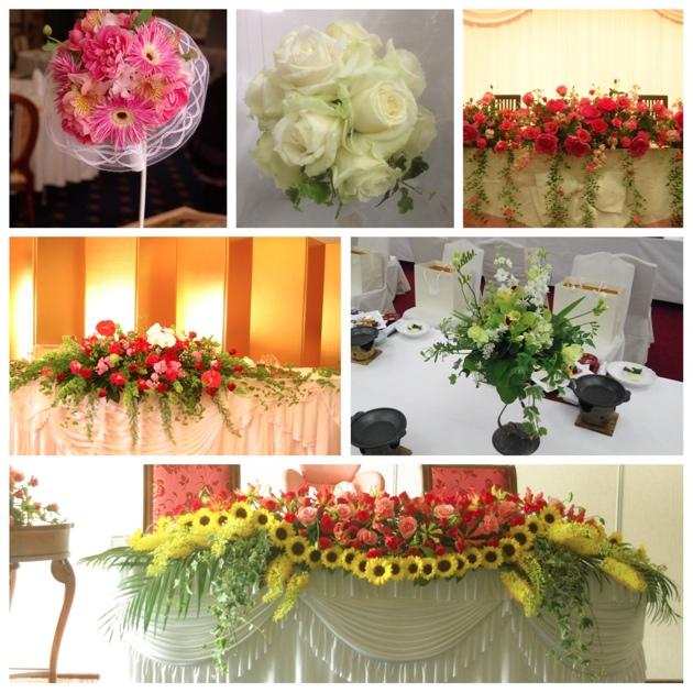 結婚式 ウェディング メインテーブル ウェディングブーケ 平戸市 海上ホテル