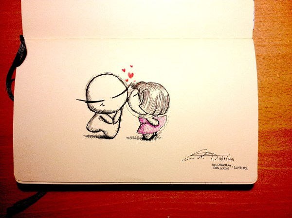 100 Drawing Challenge: #2 Love – Into One's Mind