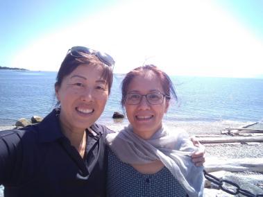 Sonia Tan and Eileen Han reunion in 2019 with Shifu shining down. c.2019