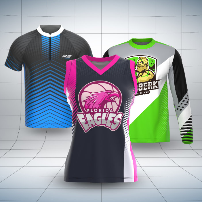 Download 3D Clothing and Apparel Mockups: Realistic Team Jersey Mockups