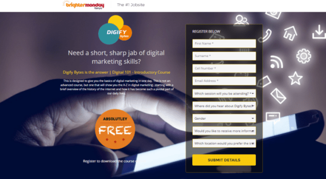 BrighterMonday Learning and Digify Bytes To Train Youth On Digital Marketing