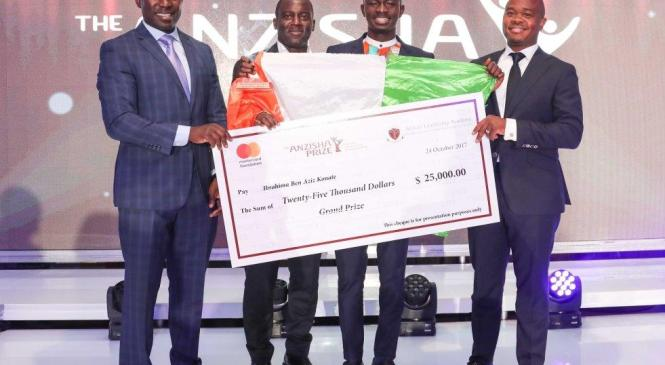 22 year old from Cote D'Ivoire wins Anzisha Grand Prize