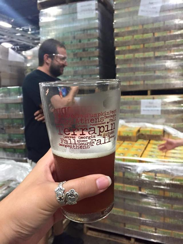 Terrapin Beer glass on the tour