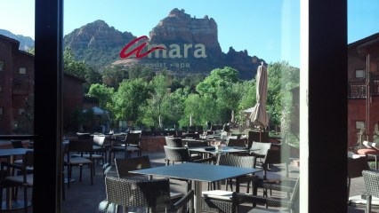 View from the restaurant at Amara Resort and Spa