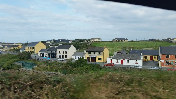 Nice shot of the shops in Doolin