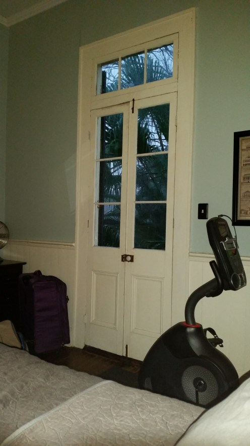 Nice tall ceilings in this home! Oh and an exercise bike!
