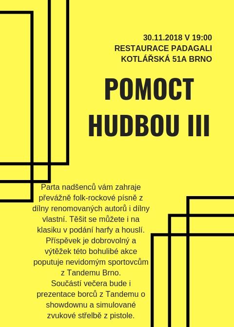 Plakát Pomoct hudbou III