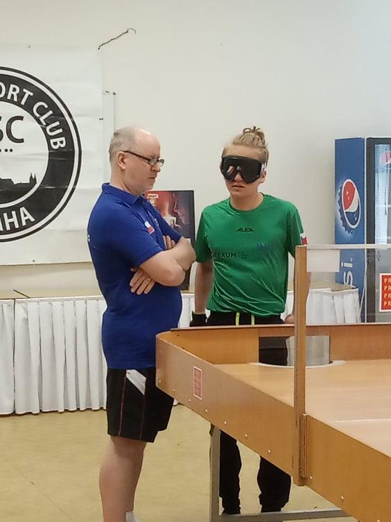 Ben Levíček s trenérem