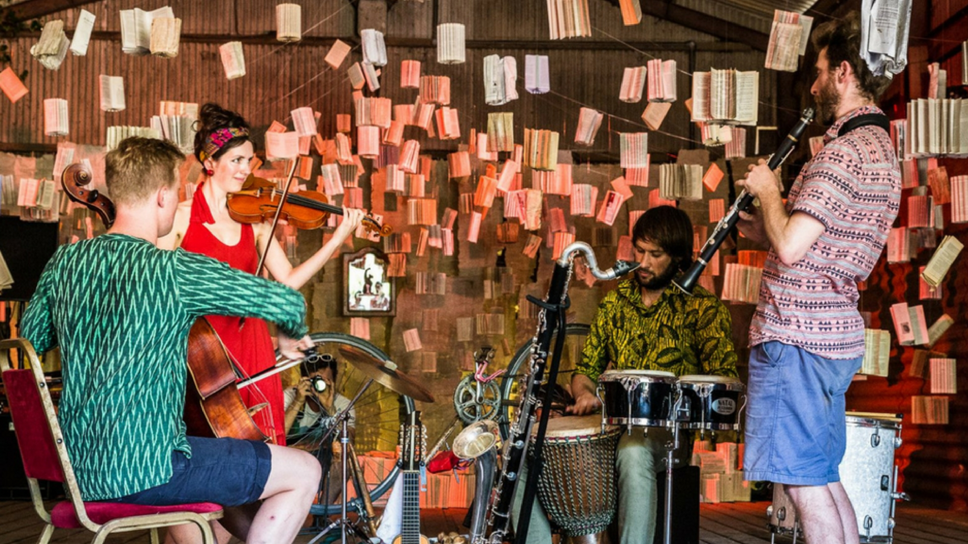 Group playing at Tandem Festival