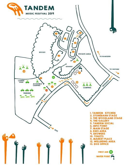 Tandem Festival 2019 Site Map