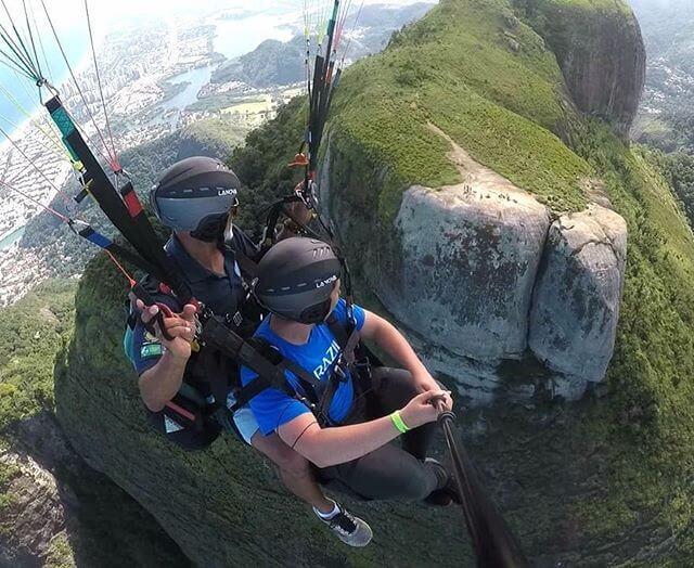 Book your parapente tandem fly at rio club do voo livre Sao Conrado @tandemflyrio
