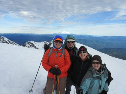 My mom climbed Mt St Helens!